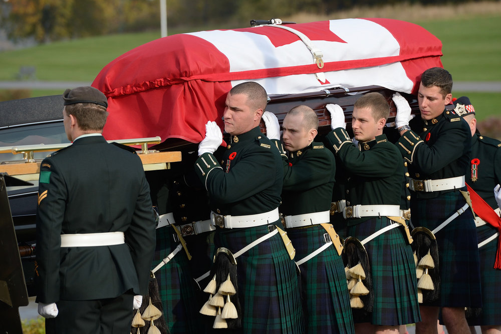Corporal Andrew Wesley's photos from the funeral ceremonies of the late Cpl Nathan Cirillo