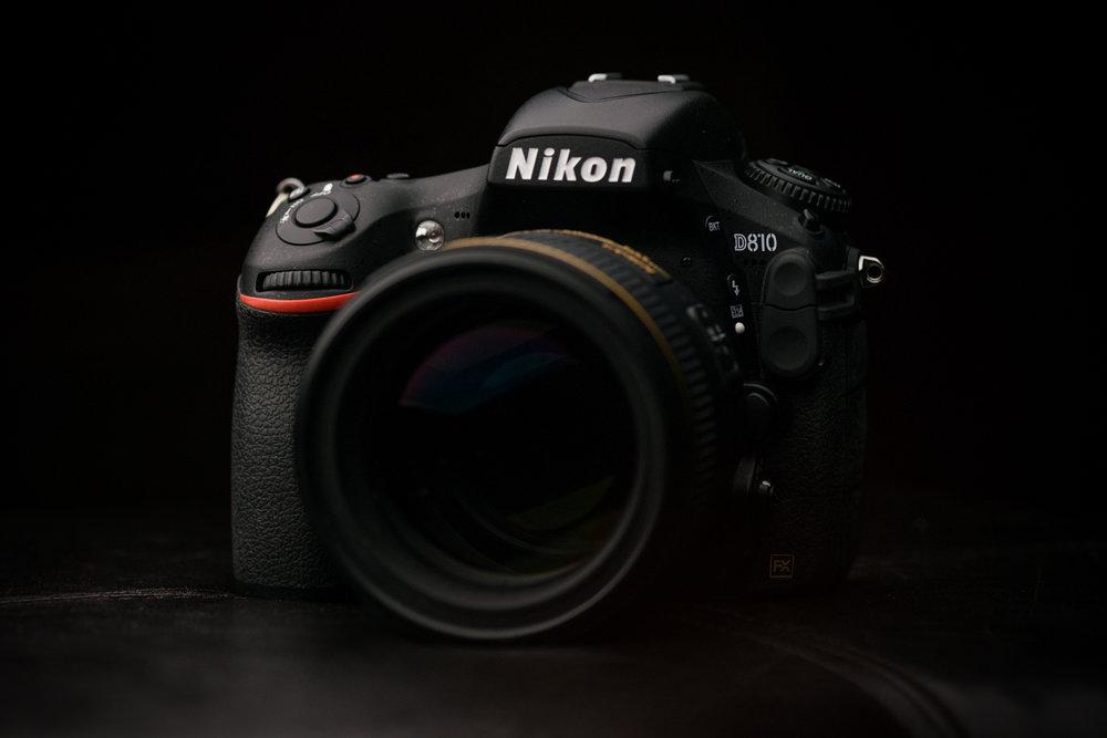 Nikon D810 camera body.