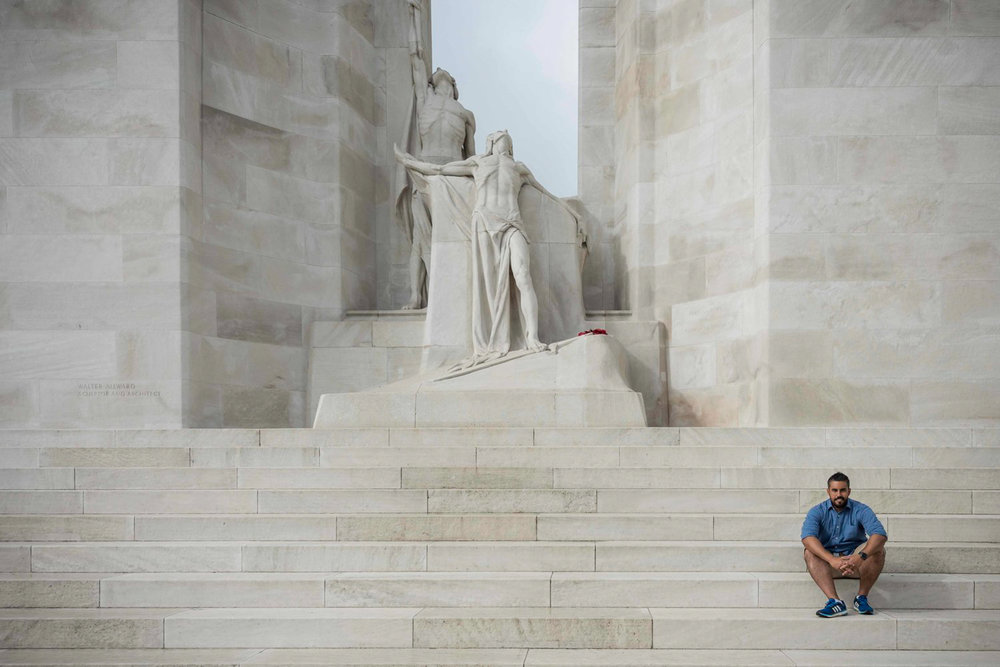 Here I am at the Canadian National Vimy Memorial.
