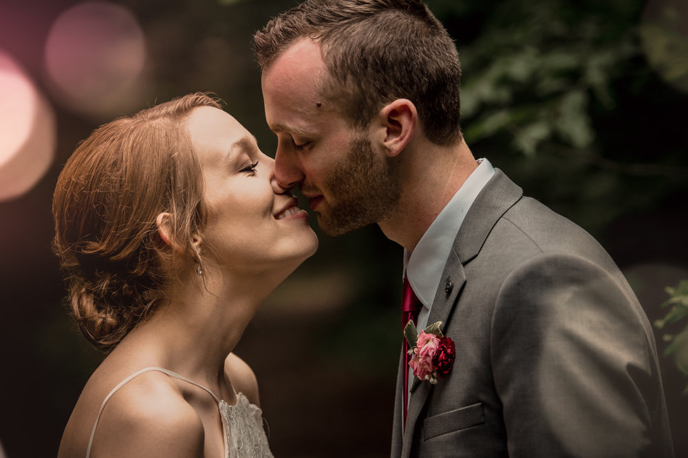 One perfect kiss between a bride and groom, as they move into their new life together.