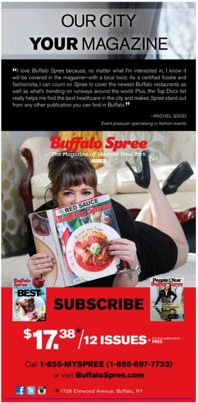 Buffalo Spree Ambassador Ad