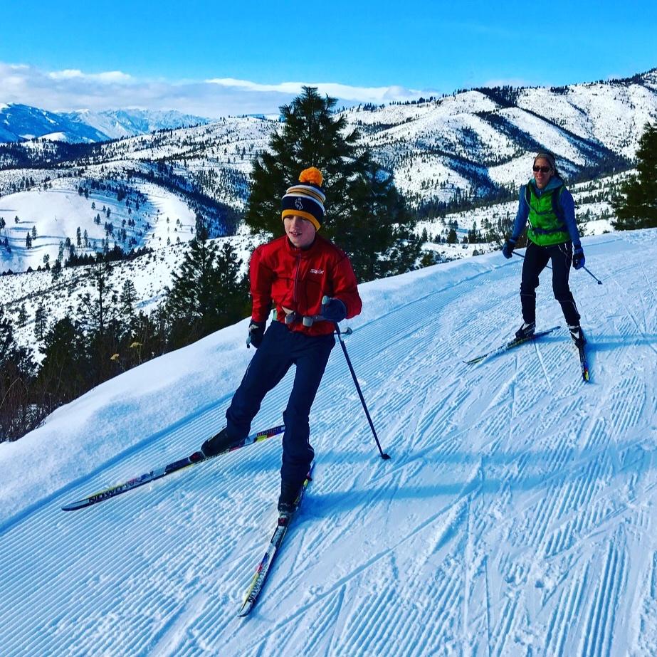 lake chelan nordic echo ridge cross county ski and snowshoe trails