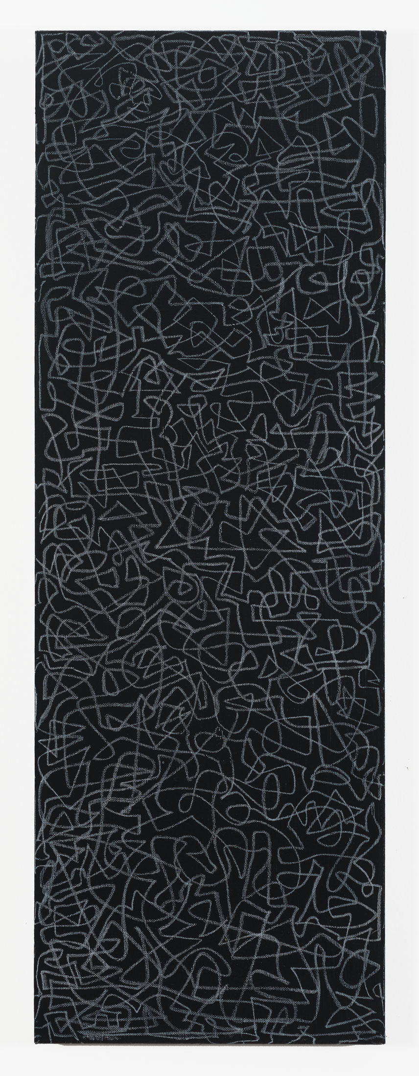 "Contiguity (Minor)   Acrylic & charcoal on canvas  36"" x 12"""