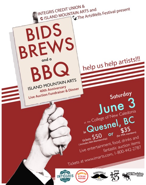 bids brews a bbq fundraising auction island mountain arts