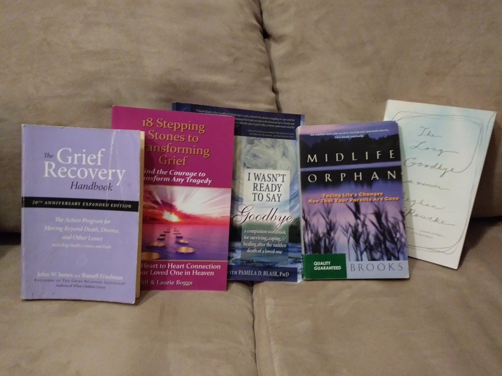 Part of my collection of Grief Recovery Books