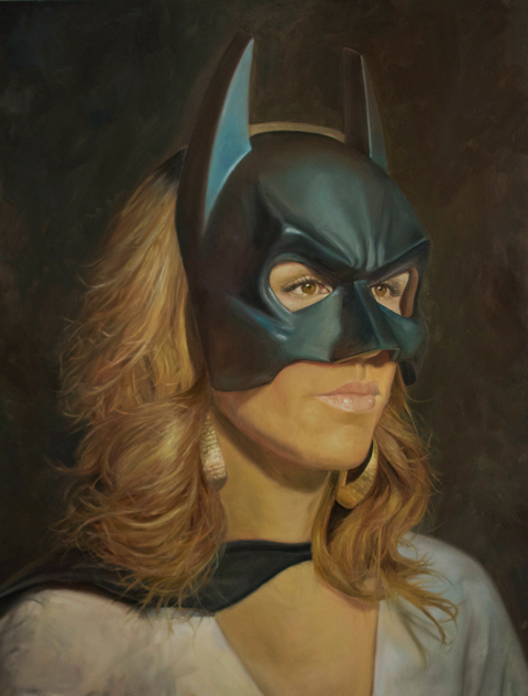 """Masked""  18x24 oil on panel  2015"