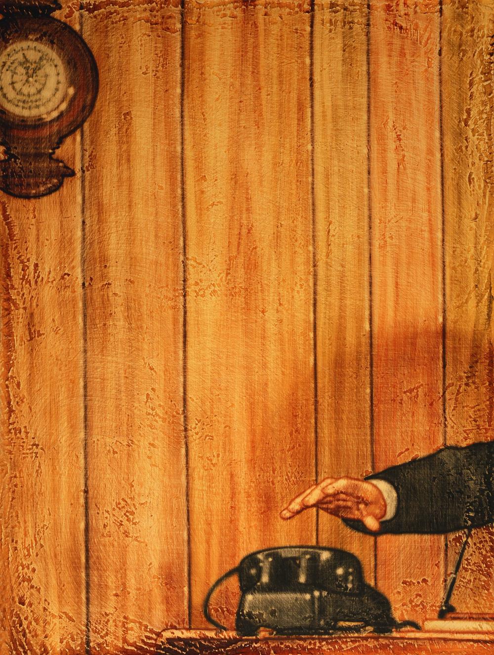 """""""Oak""""  Acrylic on canvas  25 x 19""""  1998"""