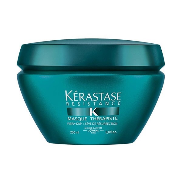 Kerastase Masque Therapiste: Thick, creamy reparative masque that deeply nourishes and works at very core of the hair, for very damaged, over-processed thick hair.