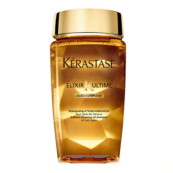 Kerastase Bain Elixir Shampoo: Versatile nourishing oil shampoo that provides ultimate shine, softness, and nourishment for all hair types. Silicone and paraben-free.
