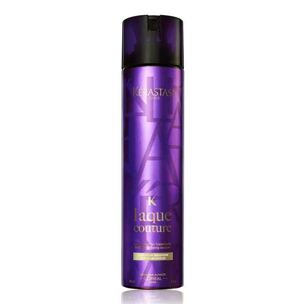 Kerastase Laque Couture: A micro-fine diffusion hairspray that sets all styles in place with a flexible long-lasting hold. Works perfectly with heat tools.