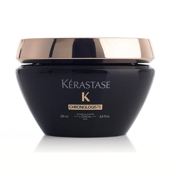 Kerastase Chronologiste Masque: Restorative treatment, perfect for all hair types. deeply nourishes, renews, hydrates, and strengthens hair fiber and scalp.