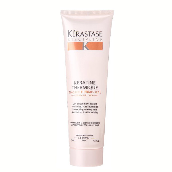 Kerastase Keratine Thermique: Advanced technology that smooths hair for salon quality anti-frizz protection without weighing hair down. Reduces breakage from blowdrying and restores inner flexibility. Excellent leave-in care.