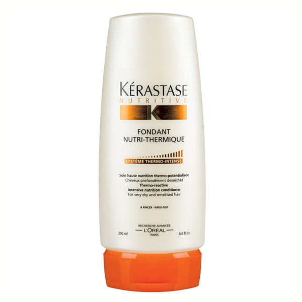 Kerastase Fondant Nutri-Thermique: Daily conditioner for lightweight nourishment and moisture for dry, sensitized hair.  Locks nourishment deep into the fiber, protects hair from the drying-out process and heat styling tools, and leaves hair durably soft and shiny.