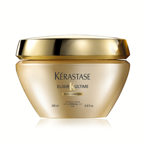 Kerastase Masque Elixir Ultime: Beautifying oil treatment for all hair types. Revives the natural strength of hair. Provides nourishment deep into the hair fiber, gives hair ultimate shine, and leaves hair feeling weightless.