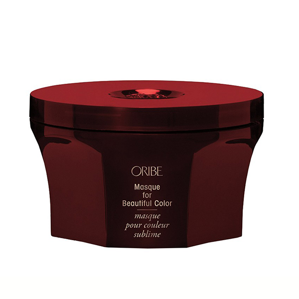Oribe Masque for Beautiful Color: Intense, cuticle-enriching conditioning, color-protecting UV filters, and next-generation frizz-taming bio-polymers supercharge this color-enhancing, hair-repairing, glossifying masque.
