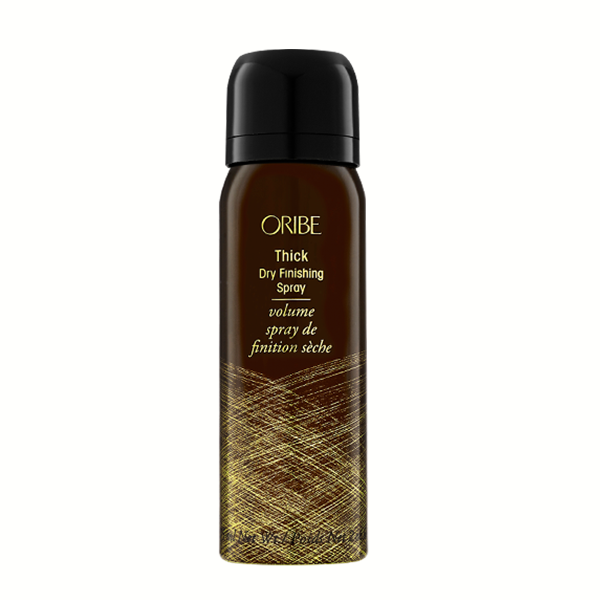 Oribe Thick Dry Finishing Spray: High-density finishing spray that inflates hair for extra thickness and lushness.