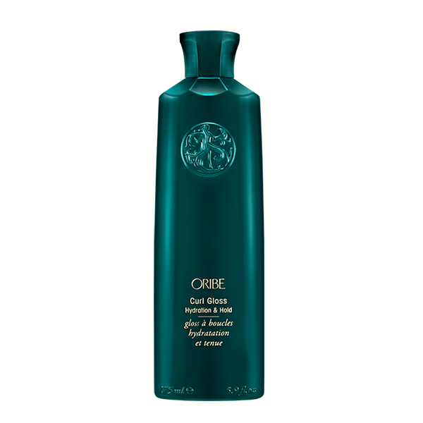 Oribe Curl Gloss: Lightweight glossing gel shapes and shines for ultra-hydrating control. A blend of Brazilian extracts, including passion flower, jicama, and cupuacu fight humidity and deeply condition for soft yet defined curls that hold all day.