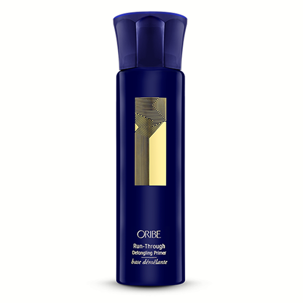 Oribe Run-Through Detangling Primer: Lightweight conditioning detangler primes hair for immediate glide-through combing, leaving strands silky soft and incredibly touchable. Cuticle-sealing formula protects hair from damage caused by heat styling and comb-resistant knots.