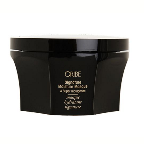 Oribe Signature Moisture Masque: A super-rich indulgence. This crème de la crème deep-hydrating masque transforms even the driest, most over-it hair, leaving it supremely soft and irresistibly touchable.