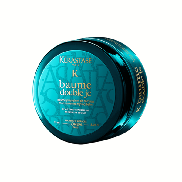 Kerastase Baume Double Je: Half-cream, half-paste, this flexible pomade moves with you throughout the day, keeping your style in place, shiny and supple, with no sticky feel.