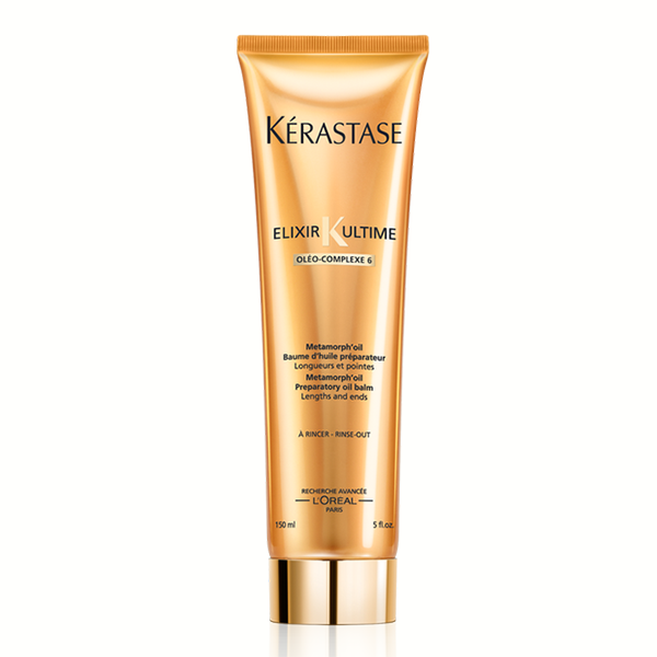 Kerastase Elixir Ultime Metamorph'oil: Oil-infused gel-to-milk purifying pre-cleanse, preparing the fiber for optimal shampoo and conditioner performance.
