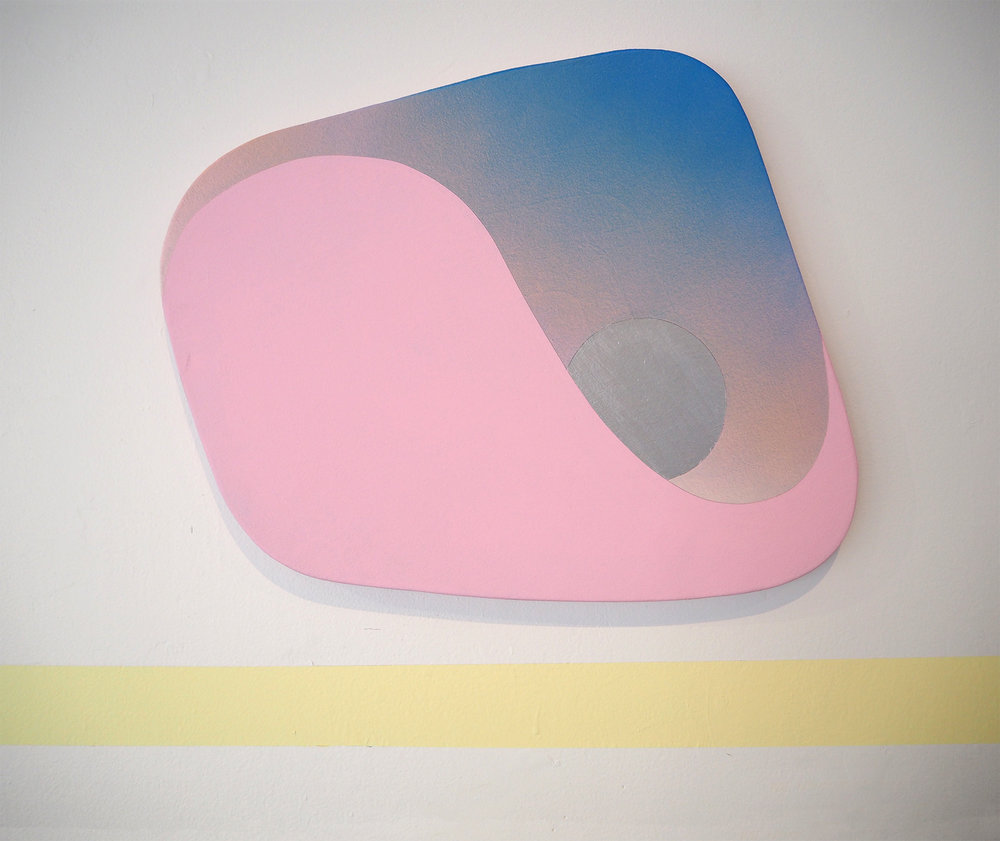 Shaped canvas, Australian artist, contemporary art, Australian artist, Perth artist, painting, futuristic, gradient, exhibition, disabled artist