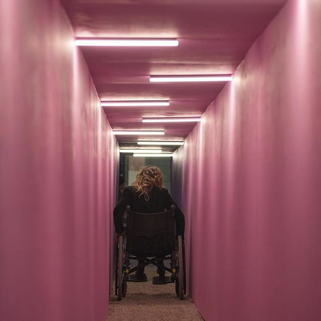 This 📷 of @jota_grace by @keelanohehir found it's way into @broadsheet_melb along with a write up about ♿️Hostile Infrastructure♿️ and yours truly. Link in bio if you feel like a read. Come down to @testinggrounds tomorrow from 6pm to experience it for yourself! Big thanks to my sponsors @light_project @arup.lighting.melbourne and @fisherlane26 . This project was supported by the @cityofmelbourne arts grants program.
