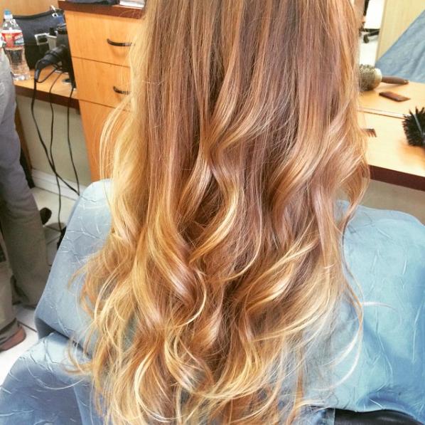 Maria Milanes Hair - Long Hair - Blonde Highlights, Valencia