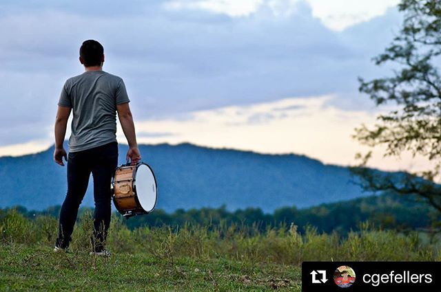 "We love this shot of @cgefellers with his Ambrosia maple Abide stave. ・・・ ""He must become greater; I must become less."" John 3:30. 📸: @erenae444"