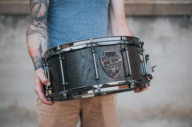 We're beyond stoked at how this build turned out. A blacked out maple stave snare, ready to go.