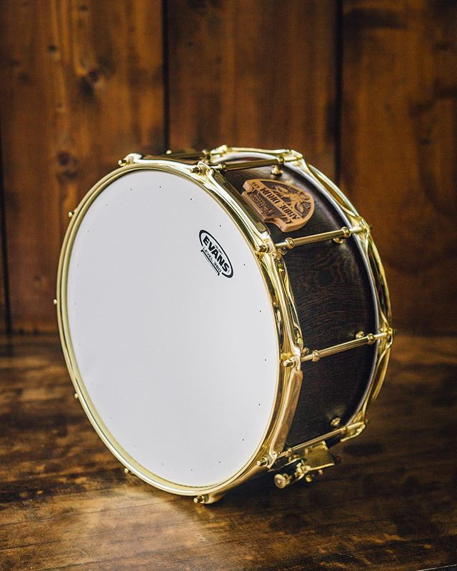 Wenge wood + brass hardware. Can't go wrong with this snare. 🥁 Yes, this snare could be yours! Available on our website: www.abidedrumco.com or link in the bio!