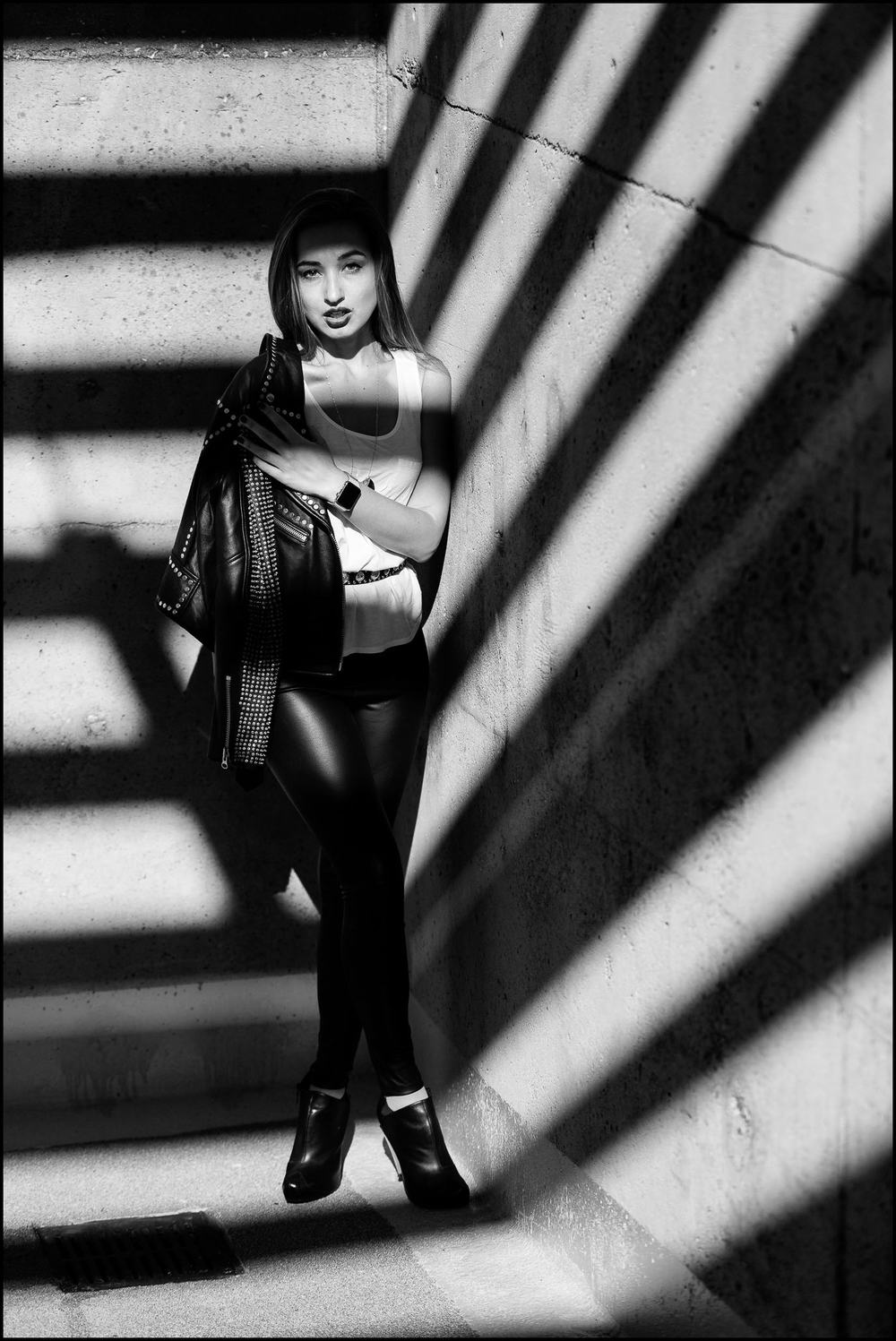 Nataliia in shadows
