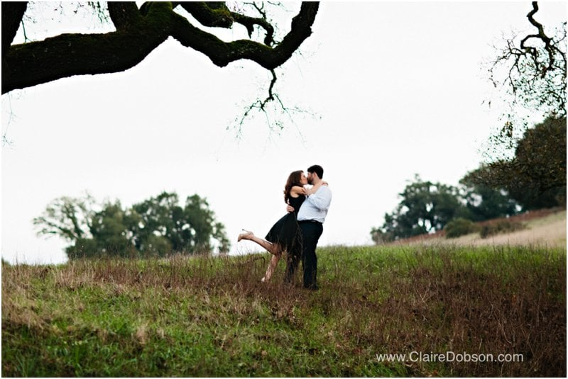sonoma engagement photos of bride and groom