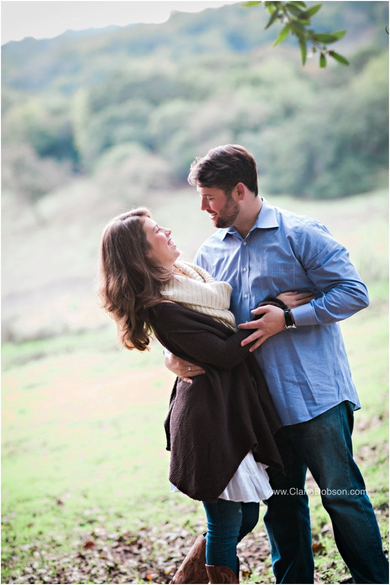 Bride and Groom to be during their engagement session in sonoma county.