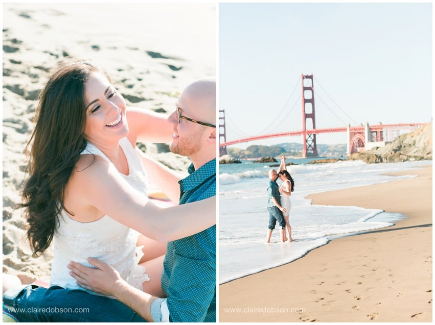 San francisco baker beach engagement session 499