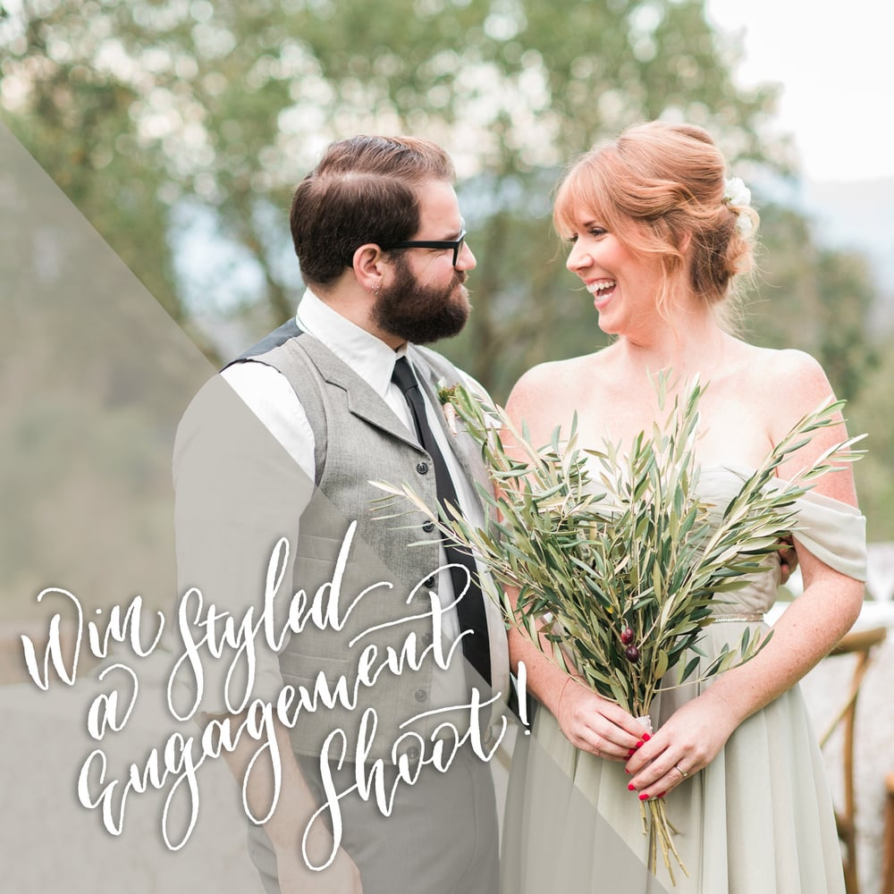styled engagement shoot give away