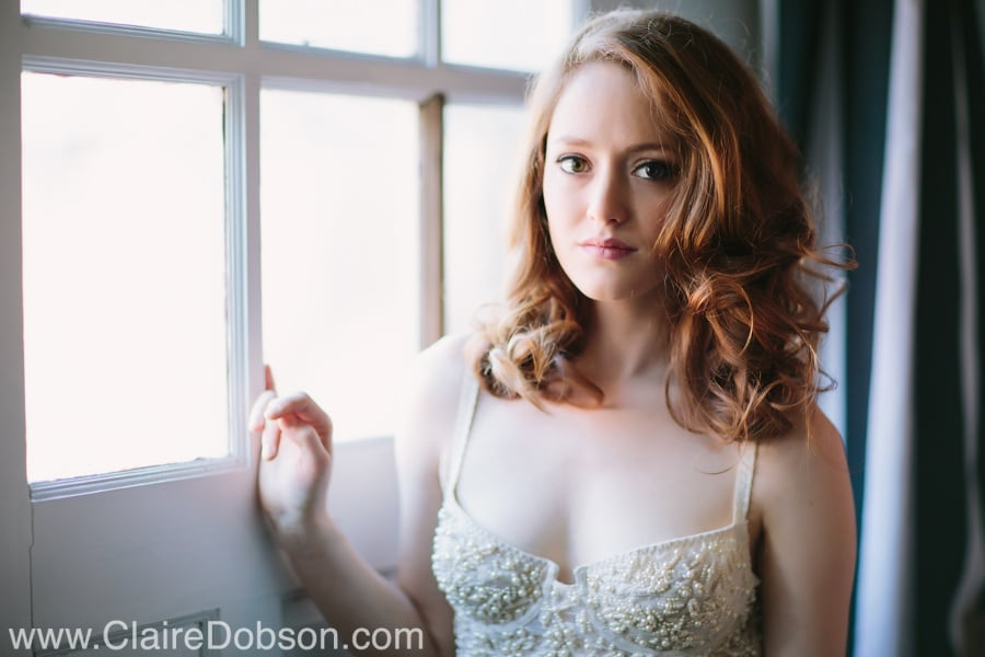 Boudoir Photography using window light