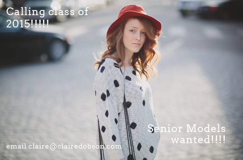 Senior portrait models wanted