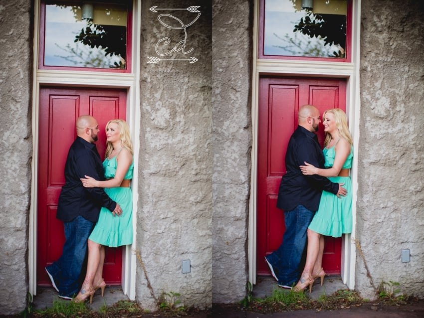 Pictures of bride and groom before there wedding.