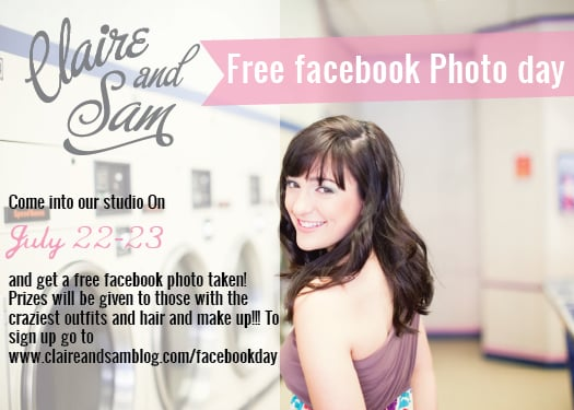 free facebook photo day at claire and sam photographers