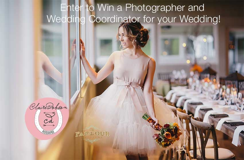 enter for a chance to win wedding photography and event planning