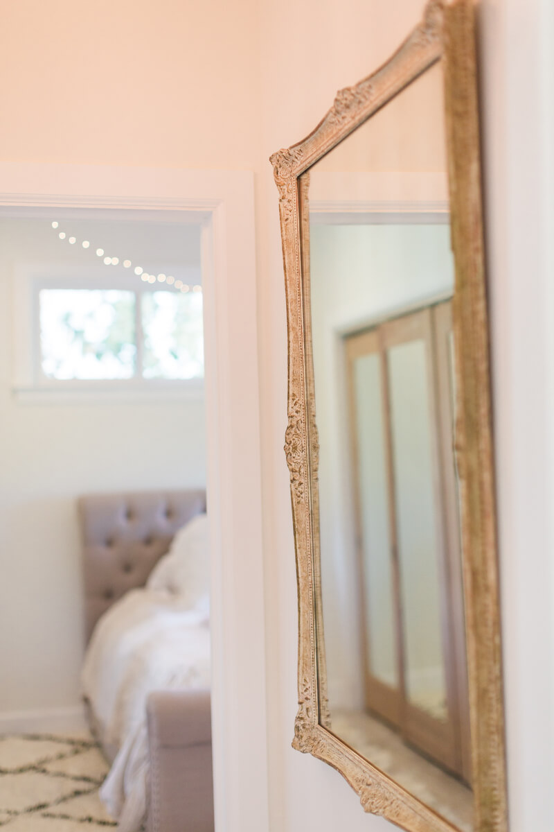 mirror in bedroom after makeover
