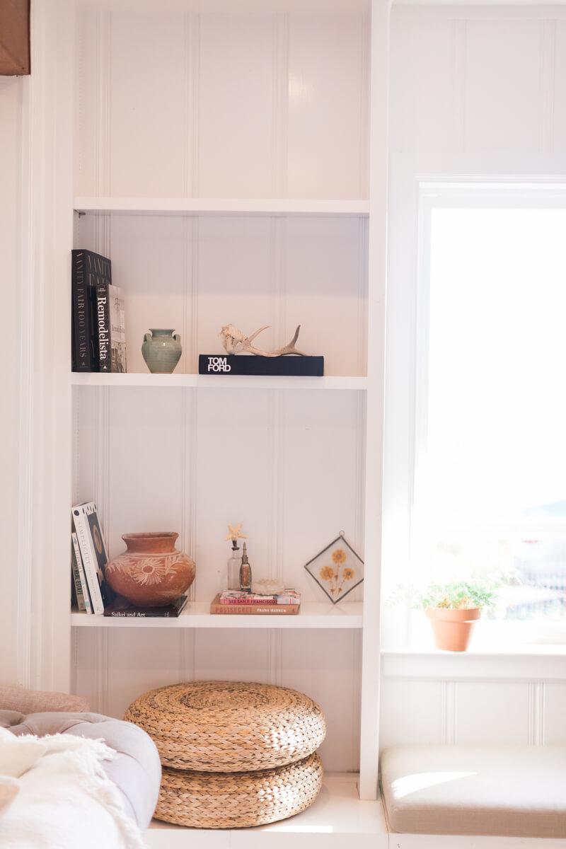 shelf after makeover closeup
