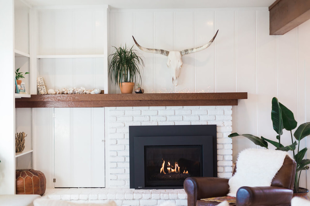 fire place after makeover