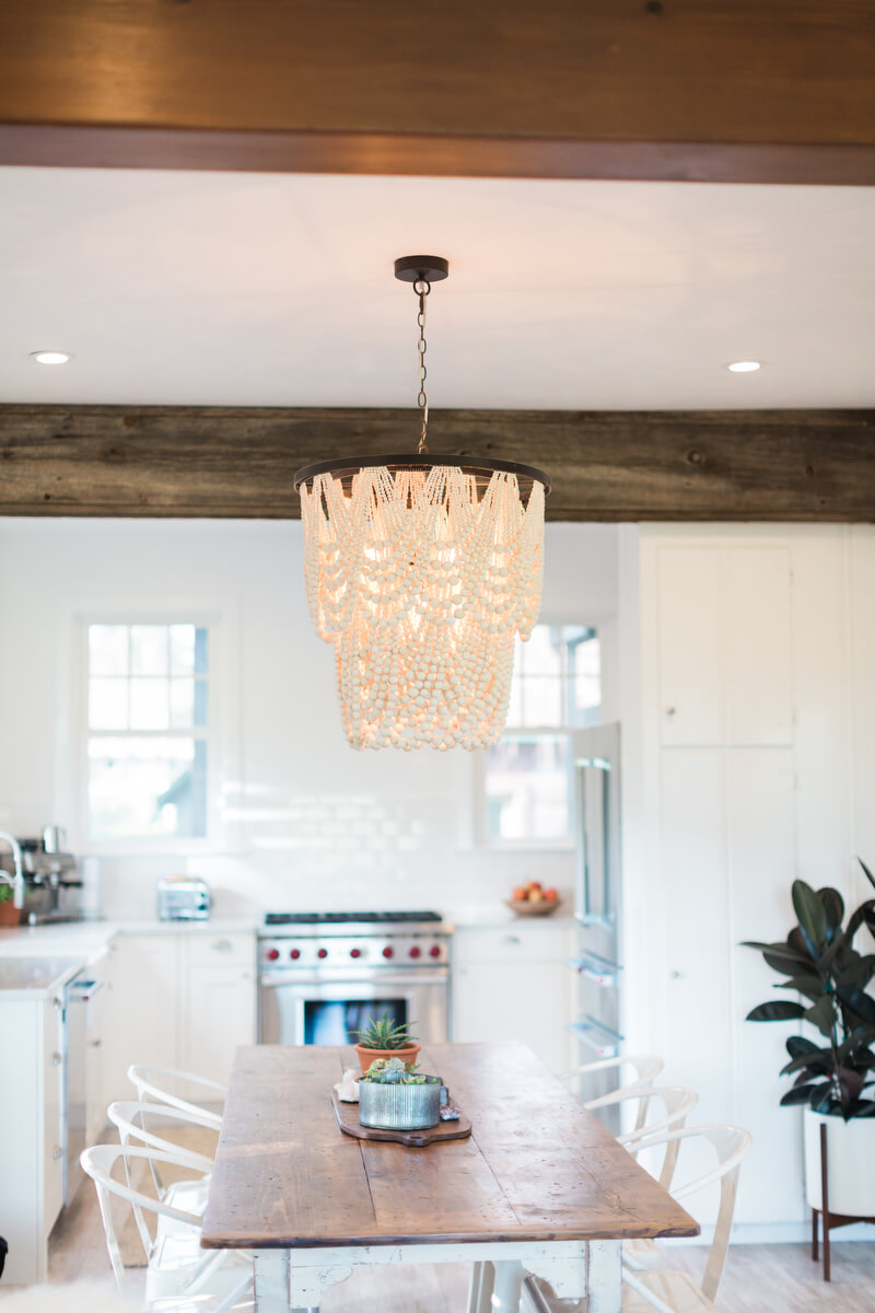 Mini Chandelier over dining table