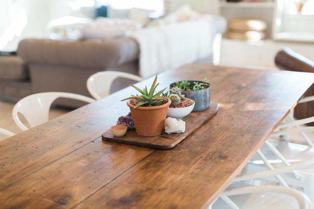dining table closeup