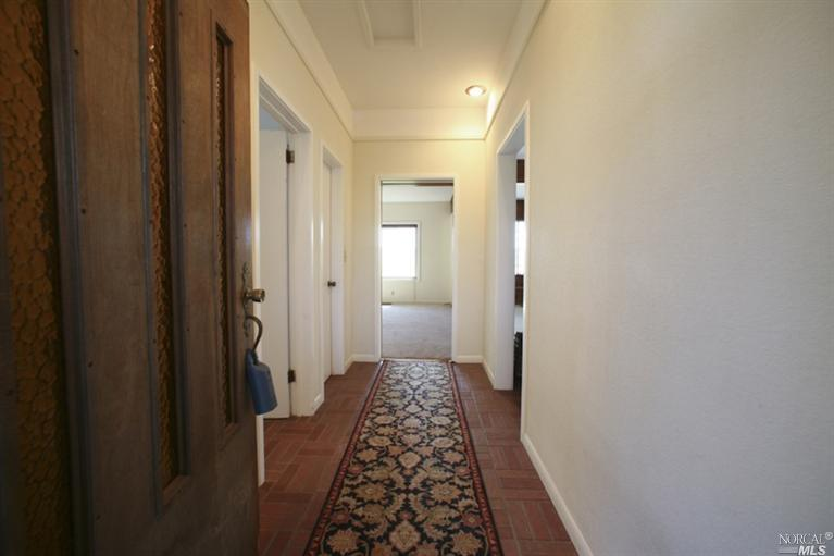 hallway before makeover