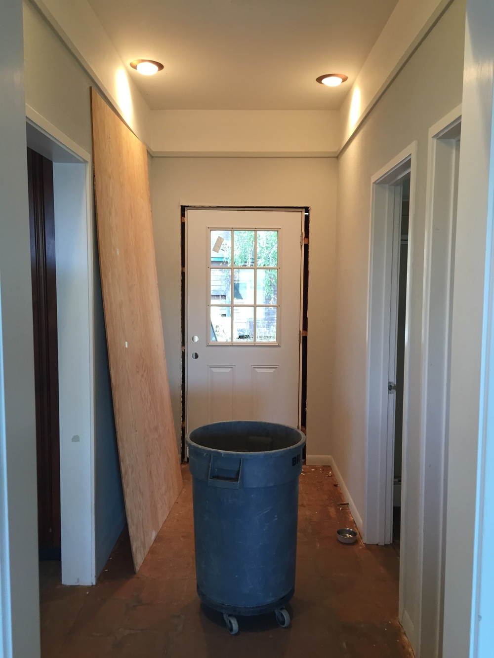 hallway under the makeover process
