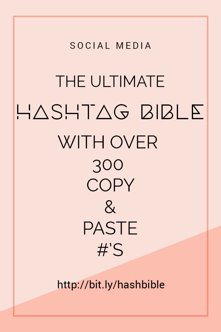 Hashtags are a great way to get your content found by your target audience - and they're here to stay, so now is the time to learn all about how to use hashtags for your business. This post contains everything you wanted to know about hashtags for your business PLUS includes a free Ultimate Hashtag Bible so you'll never be left wondering which hashtags to use #Hashtags #HashtagGuide #HashtagsForBusiness #InstagramTips #InstagramForBusiness #InstagramHashtags #PinterestTips #PinterestForBusiness #PinterestHashtags