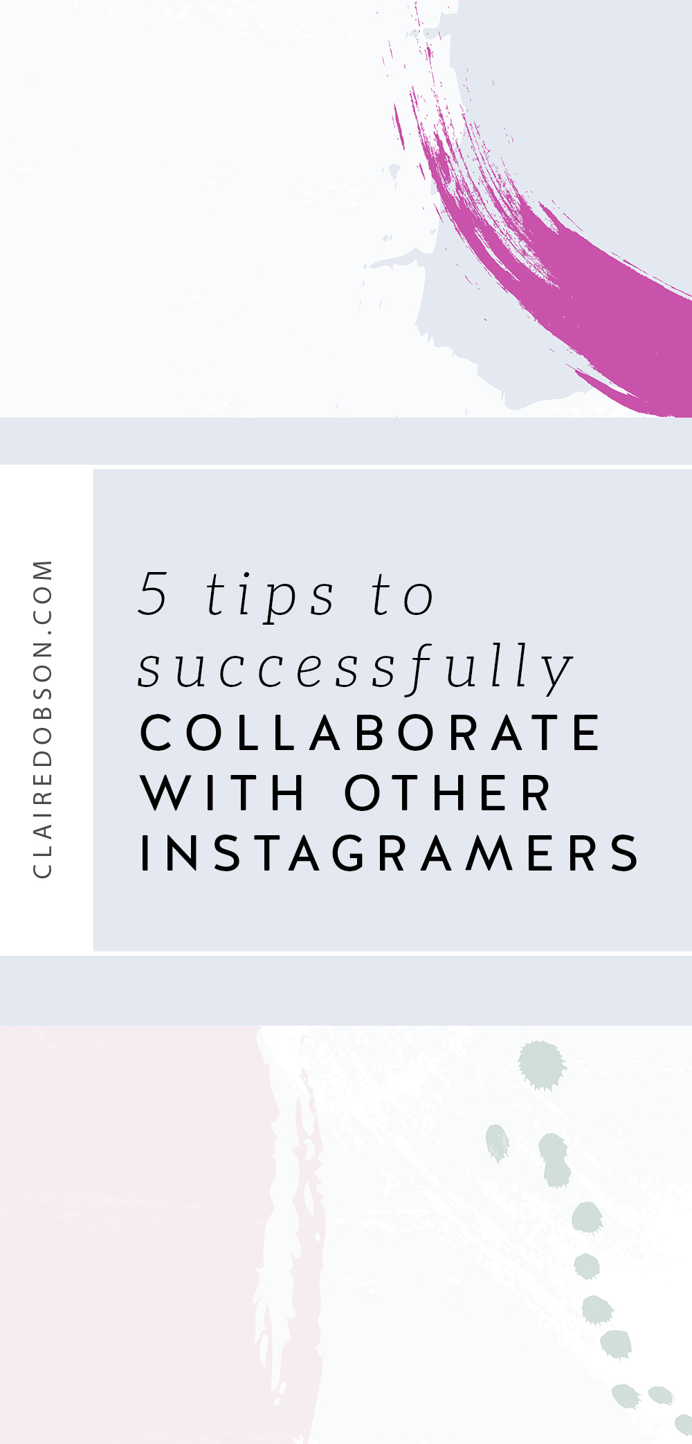 Learn some tried and true tips to successfully collaborate with other #bloggers and Instagram #influencers to grow your influencers and Instagram followers organically. I have used these to grow my blog #instagram#pinterest and #socialmedia accounts as well as my #creativebusiness to get brands to work with me.